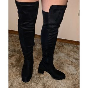 Sexy Black comfortable thigh high boots